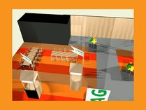 3D-Rendering Messestand LOBAG