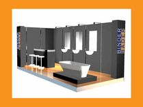 3D-Rendering Messestand Binder Bäder